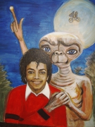tableau et le film michael jackson steven spielberg et : quelqun dans le noir, Michael Jackson et ET