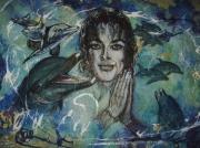tableau dauphin michael jackson la nature humanitaire : heahl the World