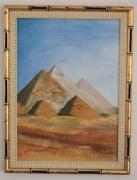 tableau paysages egypte pyramide desert encadree : Pyramide