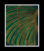 tableau abstrait tribu clan coiffe chef : la coiffe