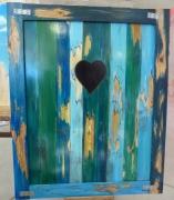 tableau autres volet bois planche coeur : Volet coeur
