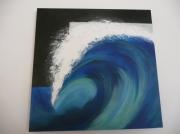 tableau marine vague ocean mer bleu : Je dis vague