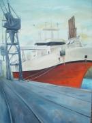 tableau paysages cargo bateau port saint nazaire : Saint Nazaire