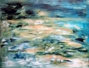 tableau abstrait : Crépuscule