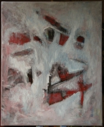 tableau abstrait : Echos