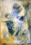 tableau abstrait : Sillage