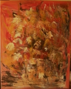 tableau abstrait fleurs abstrait bouquet vase : Fleurs en liberté
