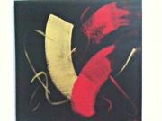 tableau abstrait stephane clain toile abstraite : Trahison