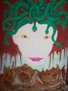 tableau personnages portrait serpent mythologie medusa : EURIST2