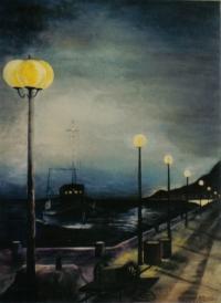 retour au port en fin de nuit