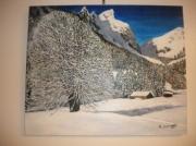 tableau paysages montagne hiver : l'hiver en montagne