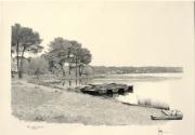 dessin paysages lac de tremelin iffendic axe routier rn 12 : Lac de Trémelin