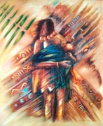 tableau abstrait barak barakk barakkar barakkart : maternité