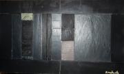 sculpture architecture sculpture ardoise cadastre paysage urbain immeuble : La Défense