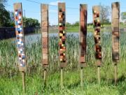 sculpture abstrait murano lagune totems burano : Pilotis