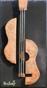 sculpture abstrait musique violon tuile guitare : Concerto