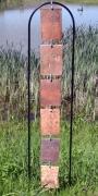 sculpture abstrait tuiles pays de bray suspension verticalite : Paravent I