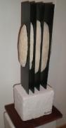 sculpture abstrait craie ardoise falaise contemporain : Mégalithe I