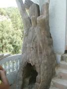 sculpture nature morte creativite travail organisation vivre : arbre-cheminée
