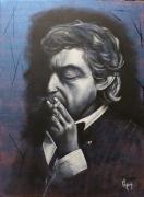 painting personnages fumeur gitane galerie creation : Fumeur de Gitane!