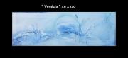 tableau bleu mer vague : Vénézia
