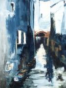 tableau paysages venise gondole nuit balade : Un soir à Venise