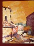 tableau paysages oppede provence village sud : Oppède Le Vieux