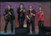 dessin personnages jazz pink turle groupe : Pink Turtle