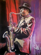 dessin personnages arshie sheep saxophoniste portrait : Archie sax