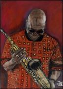 dessin personnages jazz saxophoniste manu dibango : Manu Dibango