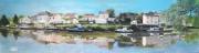 tableau paysages quai bateau panorama : Panorama Quai léon Sécher