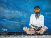 tableau personnages lecture homme reflexion : Le Lecteur