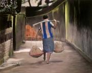 tableau marcheur asie : Le marcheur