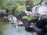 tableau paysages paysage quai bateau : Quai Leon Secher