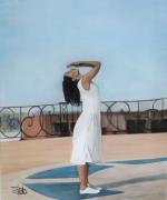 tableau personnages danse portrait : Sur les pointes de l'indifférence