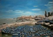 tableau port essaouera maroc : Dessine moi un bateau