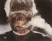 tableau vieil portrait homme : old black face