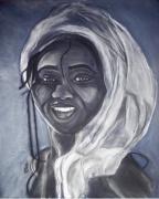 dessin personnages femme afrique sourire : Femme africaine