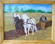 tableau personnages : Le laboureur et ses chevaux