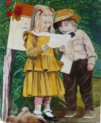 tableau personnages : Le courrier des enfants