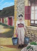 tableau personnages : La corvée d'eau
