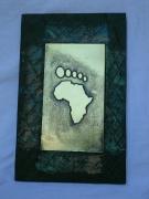 mixte art contemporain art africain bas relief sur cuivr abstrait cuivre : art africain