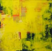 tableau abstrait abstrait acrylique atmosphere vibration : En Plein Eté