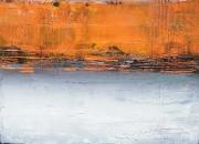 tableau abstrait abstrait acrylique atmosphere mer : Petit Paysage