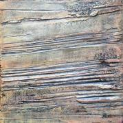 tableau abstrait abstrait acrylique texture matiere : Les Bords Secrets