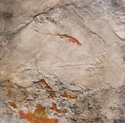tableau abstrait paysage abstrait texture : Les Bords Secrets