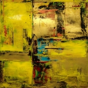 tableau abstrait abstrait acrylique or : Paysages Nocturnes