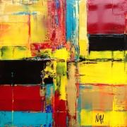 tableau abstrait abstrait acrylique atmosphere mirage : Quand le noir est couleur