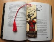 artisanat dart architecture moulin rouge paris marquepage original : Marque-page Moulin Rouge