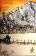 tableau paysages hiver montagne savoie paysage : paysage de Savoie
